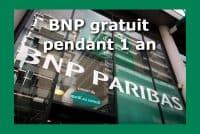 BNP paribas gratuit 1 an