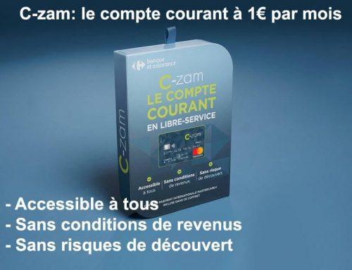 C-zam: le compte courant à 1€ par mois