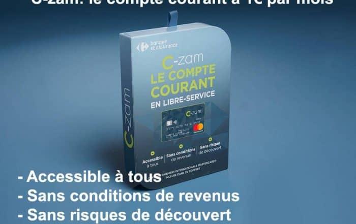 C-zam le compte courant à 1 euro par mois