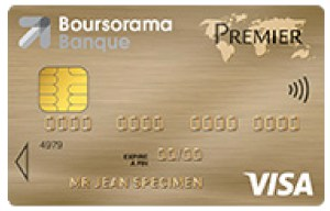 CB gratuite visa premier Boursorama Banque