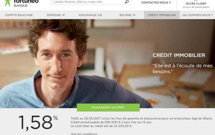 Crédit immobilier Fortuneo
