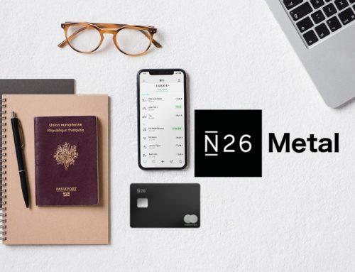 La carte bancaire N26 Metal disponible