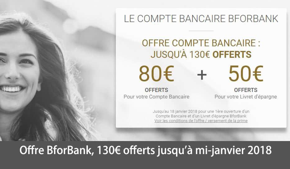 Offre BforBank 130euros offerts jusqu a mi-janvier 2018