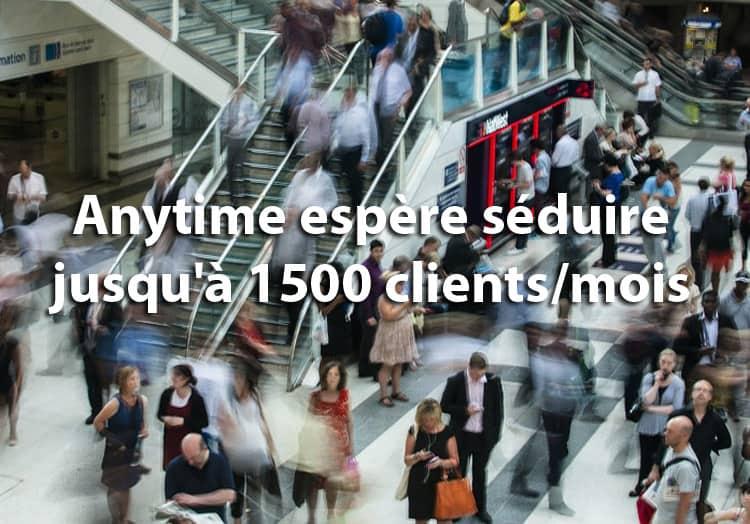 Anytime espère 1500 clients par mois