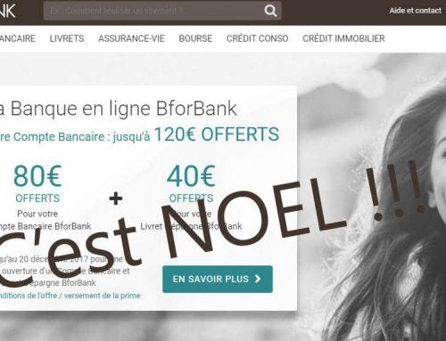 Offre Noël BforBank offre 200€ avec la Fnac