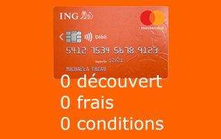 carte bancaire Mastercard standard ING