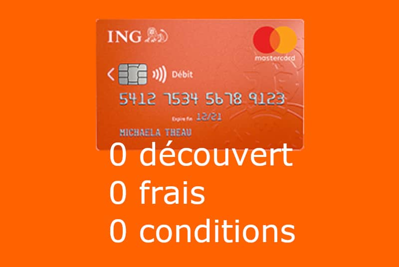 carte bancaire Mastercard standard ING