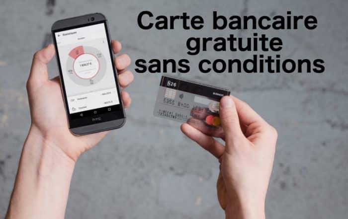carte bancaire gratuite sans conditions