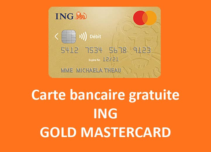 Carte gold mastercard gratuite ing