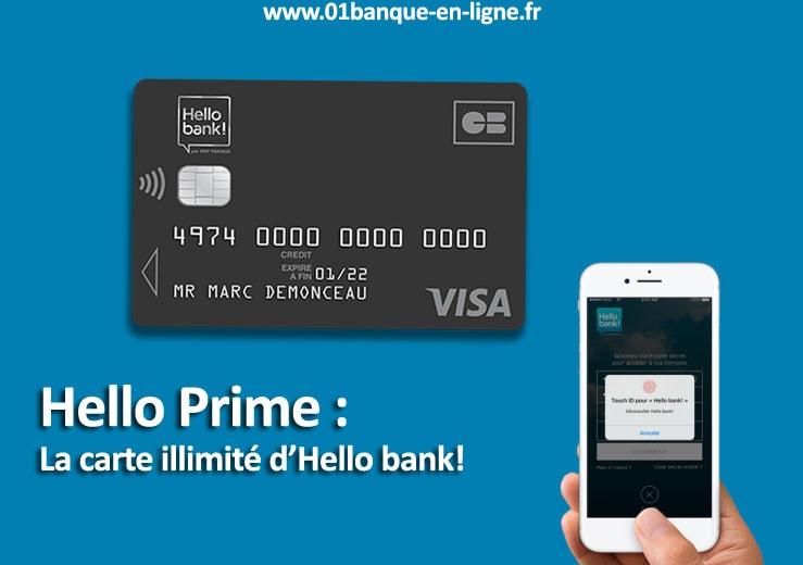 carte bancaire visa hello prime hello bank