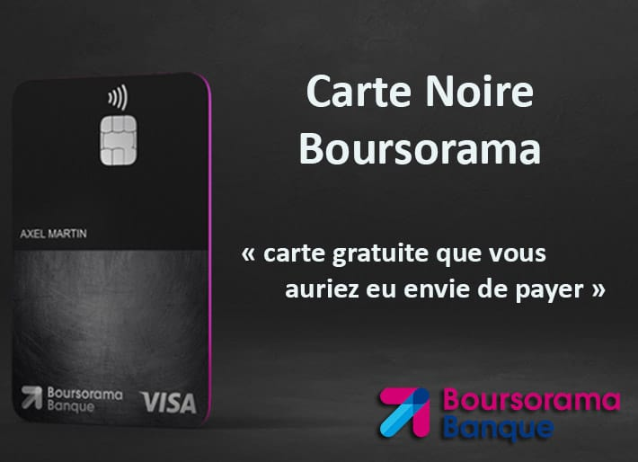 Carte noire Boursorama