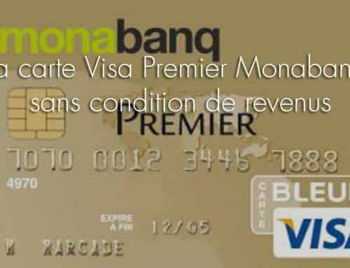 La carte Visa Premier Monabanq sans condition de revenus