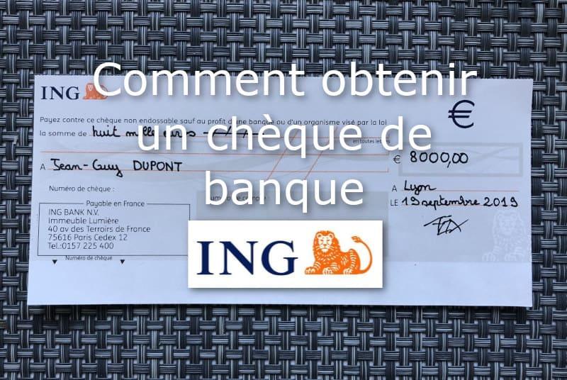 cheque de banque ING