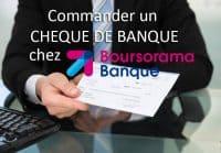 cheque de banque boursorama