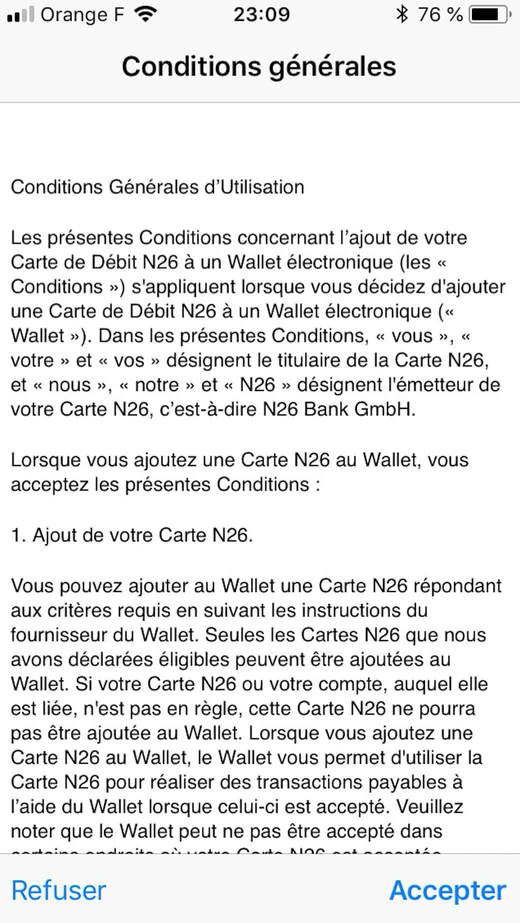 conditions utilisation apple pay