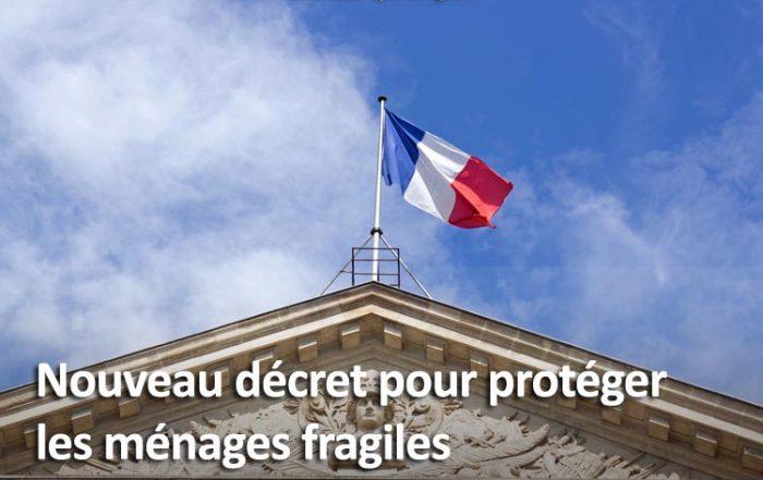 Décret protection ménages fragiles