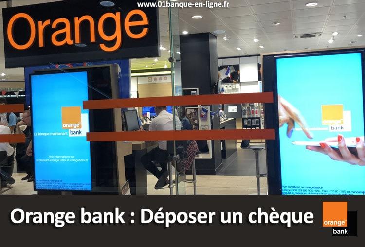 Déposer un chèque Orange bank