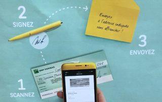 encaisser un chèque sans se deplacer