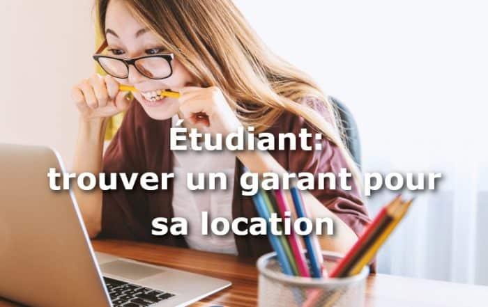 etudiant trouver garant location