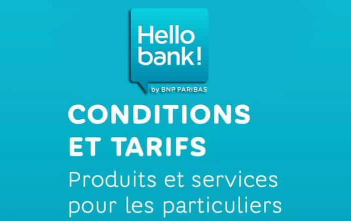Tarifs Hello Bank