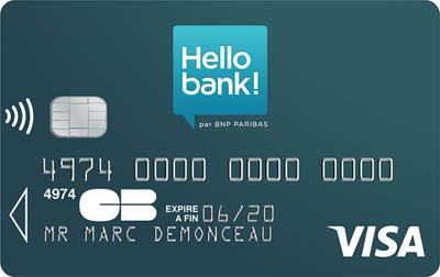 Carte bancaire gratuite hello bank 01 banque en ligne - Plafond paiement carte visa banque postale ...