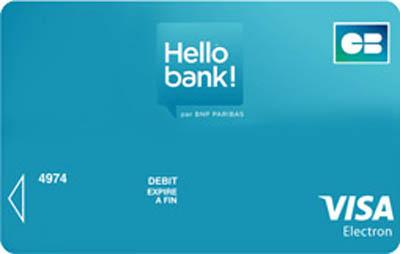 Carte bancaire gratuite hello bank 01 banque en ligne - Plafond de paiement carte visa premier ...