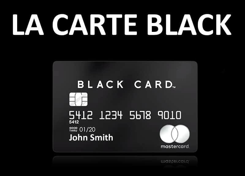 la carte bancaire noire