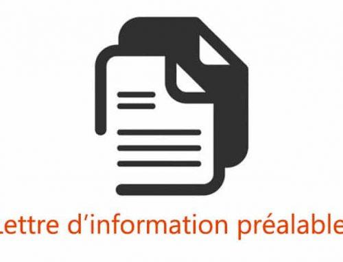 La lettre d'information préalable