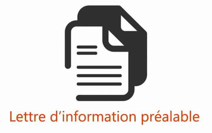 lettre d'information préalable