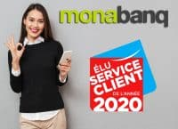 Monabanq élu service client de l'année 2020