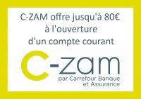 offre bienvenue czam 80 euros