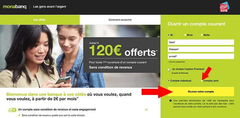 ouvrir compte joint monabanq
