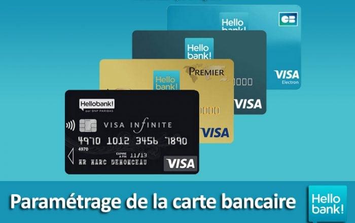 Paramétrage pilotage carte bancaire hello bank