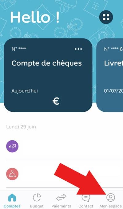 Paramétrer carte hello bank smartphone mon espace