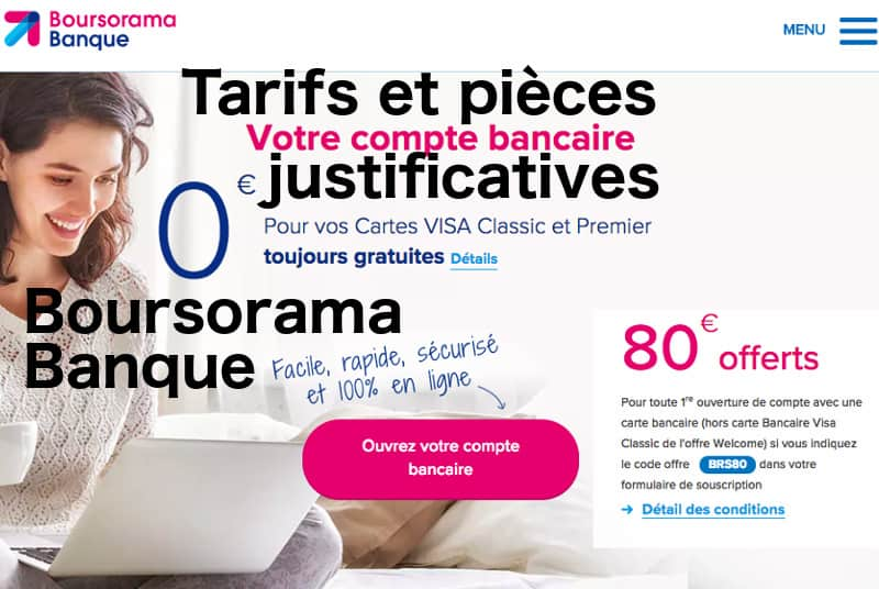 pieces justificatives Boursorama Banque