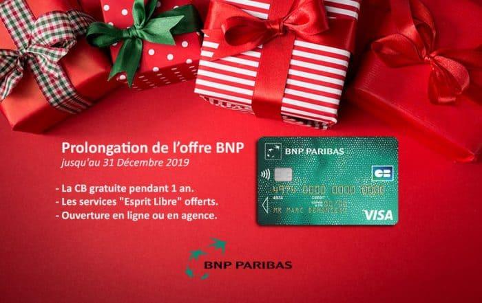 Prolongation de l'offre BNP Paribas jusqu'à fin 2019