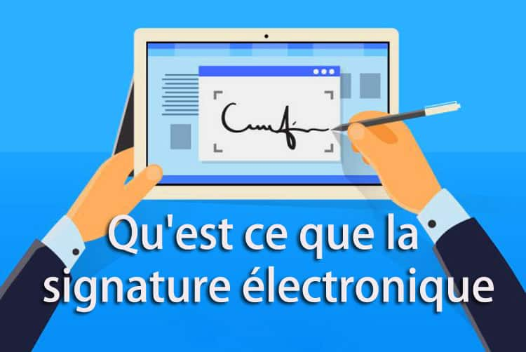 qu est ce qu une signature electronique