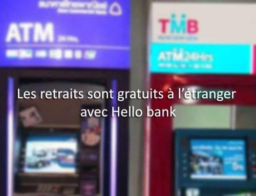 Les retraits sont gratuits à l'étranger avec Hello bank