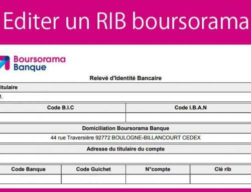 Editer un RIB boursorama