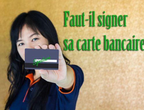 Faut-il signer sa carte bancaire?