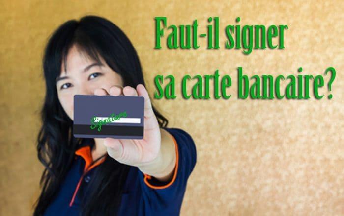 signer sa carte bancaire