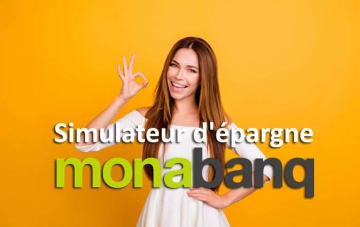 Simulatuer d'épargne de Monabanq