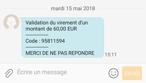sms de protection transaction carte bancaire